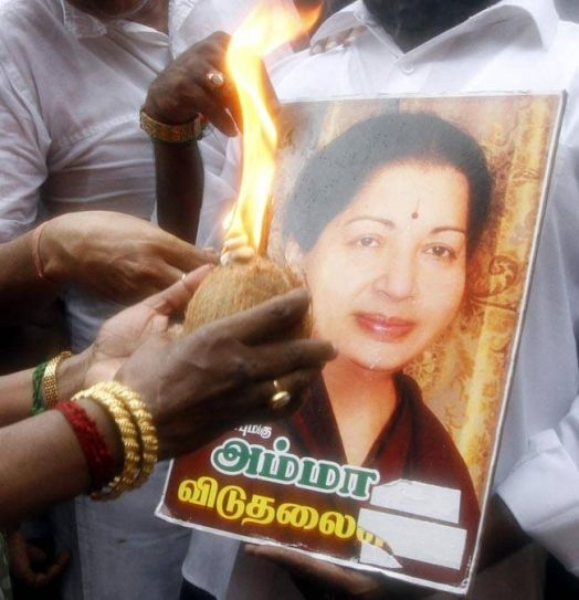 Jayalalithaa supporter