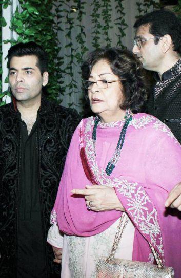 Karan Johar and Hiroo Johar at Bachchan Diwali Bash