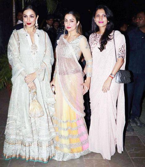 Malaika Arora and Amrita Arora at Bachchan Diwali Bash