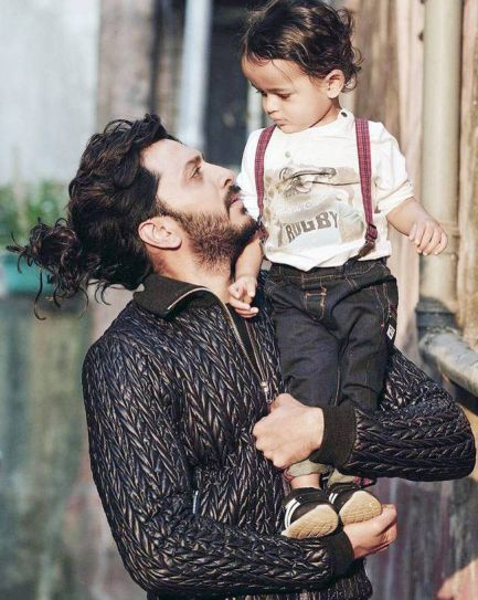 Riteish Deshmukh with his elder son Riaan