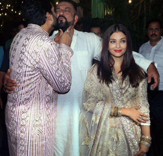 Sanjay Dutt at Bachchan Diwali Bash