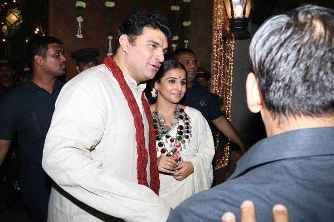 Siddharth Roy Kapur and Vidya Balan at Bachchan Diwali Bash