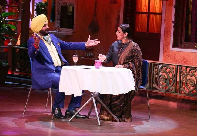 Any guesses what Navjot Singh Sidhu and Vidya Balan are talking about?