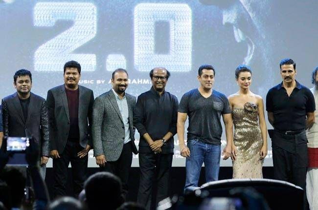 The cast and crew of 2.0 along with Karan Johar and Salman Khan