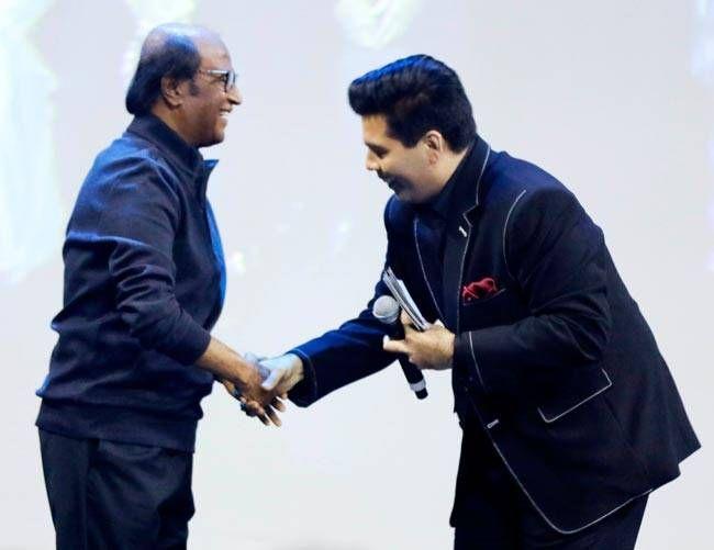 Rajinikanth and Karan Johar
