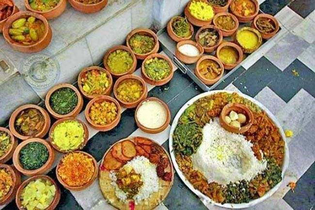 The kitchens at the Jagannath Temple in Puri, Odisha serve 100,000 people on a festival day and for about 25,000 on a normal day. It is said that the goddess Mahalaxmi cooks in the kitchen herself, and if she's displeased with the food that's cooked even