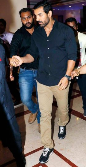 Force 2 actor John Abraham was also spotted at the party.