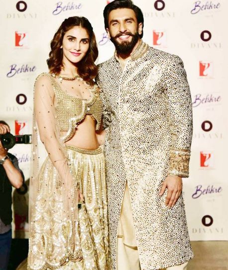 Ranveer Singh and Vani Kapoor showcased The Ivory Kiss, Spring-Summer 2017 couture collection of DIVA'NI at the Embassy of France, New Delhi. DIVA'NI is the official costume designer for the actors' upcoming movie, Befikre.