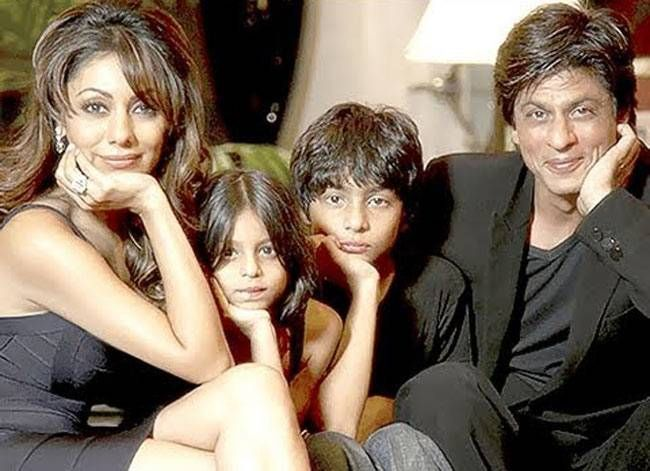 shah rukh and his family