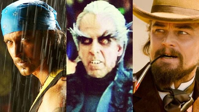 (L to R) Dhoom 2, 2.0, Django Unchained
