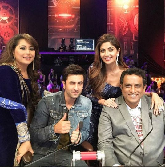 Geeta Kapur, Anurag Basu, Shilpa Shetty, and Ranbir Kapoor
