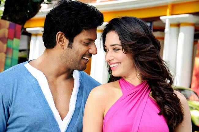 Vishal and Tamannaah from Kaththi Sandai