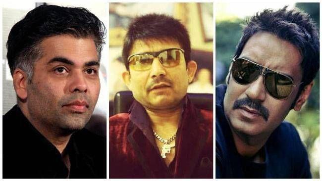 Karan Johar, KRK and Ajay Devgn