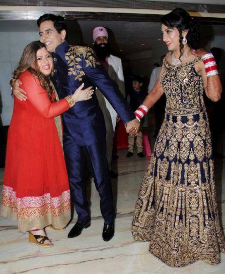 Veteran TV actress Delnaaz Irani was also present at the reception.
