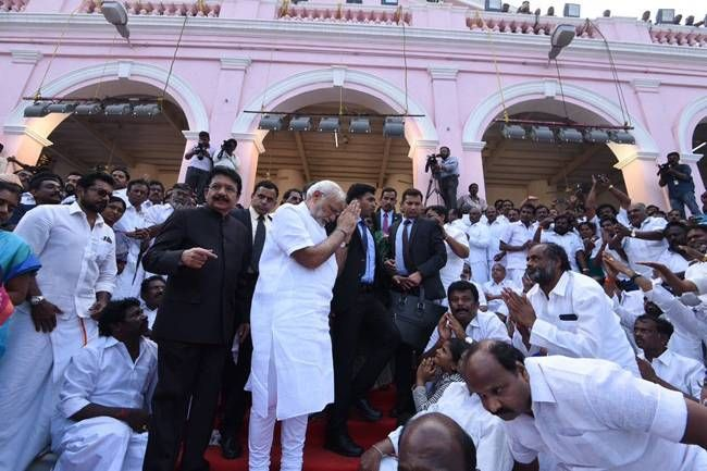 PM Modi attended the funeral of Jayalalithaa