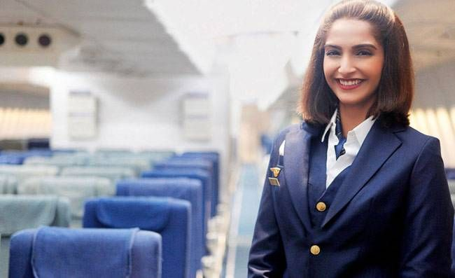 Sonam Kapoor in a still from Neerja