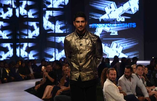 Designer Sahil Aneja showcased his collection of hand painted leather jackets with some trendy and youthful detailing.