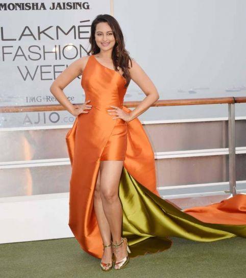 Image result for Sonakshi Sinha Ramp walk at lakme fashion week