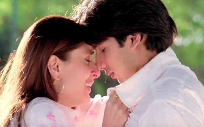 Shahid Kapoor and Kareena Kapoor in Jab We Met
