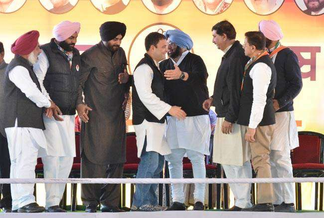 Gandhi declared state Congress chief Amarinder Singh as the party's chief ministerial candidate.