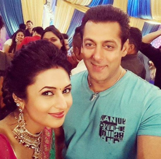 Divyanka Tripathi with Salman Khan