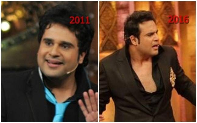 Krushna Abhishek: The multi-talented host/actor/comedian started out with Just Mohabbat, a fiction show, and later did Hindu and Bhojpuri movies. He participated in Nach Baliye as contestant. Much like most popular comedians today, his comedy career start