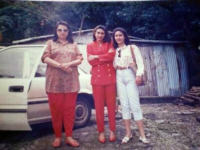 Babita with daughters Karisma and Kareena