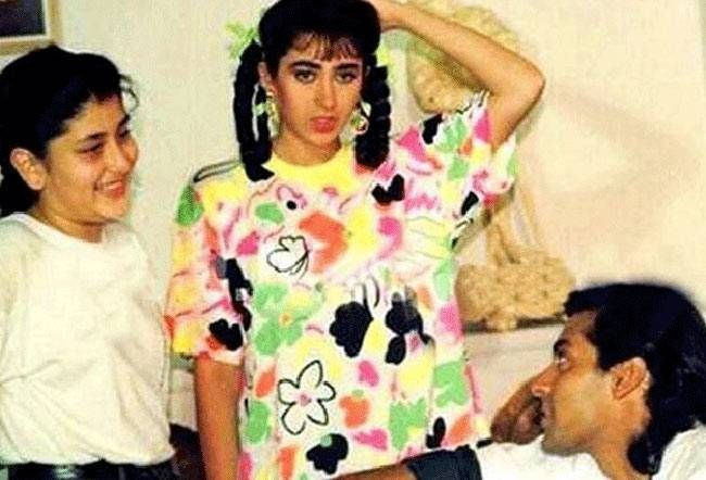 Kareena Kapoor, Karisma Kapoor and Salman Khan