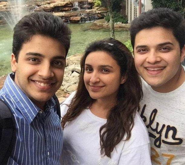 Parineeti, Shivang and Saraj Chopra