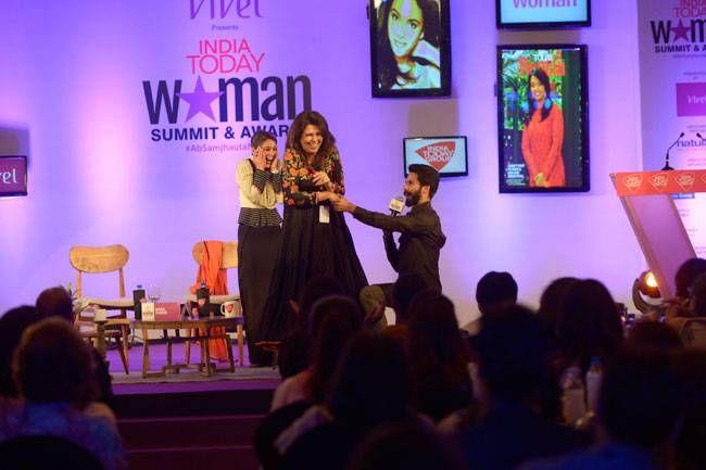 Shahid Kapoor at India Today Woman Summit 2017