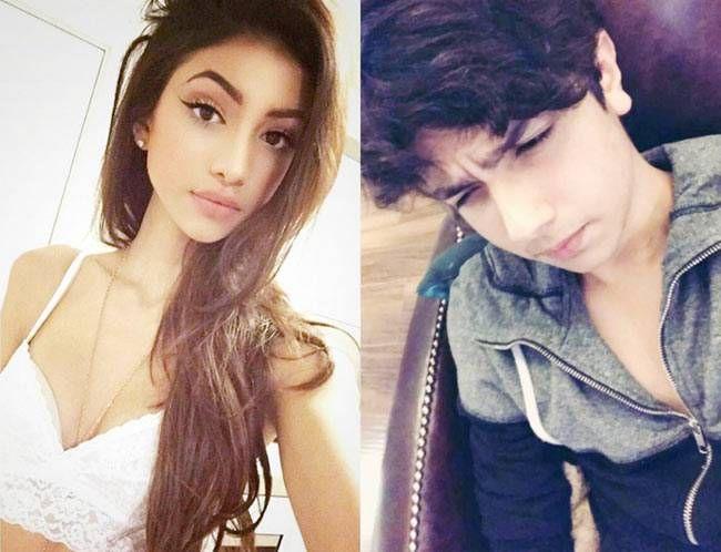 Alanna Panday (L) and Nirvan Khan