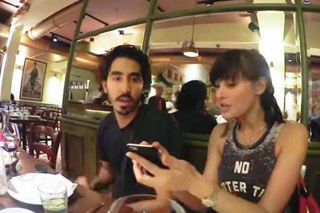Dev Patel and Nargis Fakhri