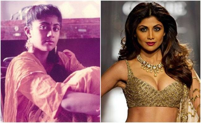 Shilpa Shetty then (L) and now