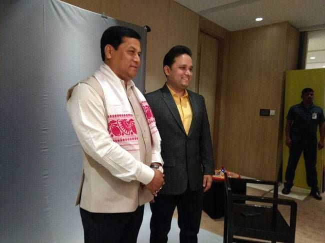 Sarbananda Sonowal with Amish Tripathi