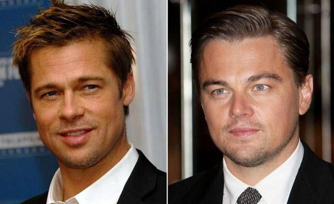 Brad Pitt (L) and Leonardo DiCaprio
