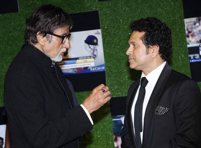 Amitabh Bachchan and Sachin Tendulkar
