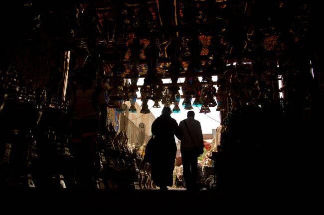 "People buy traditional metal Ramzan lanterns, ""Fanous Ramadan, at a popular market in Cairo, Egypt."