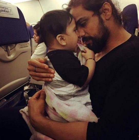 Arpit Ranka with his child