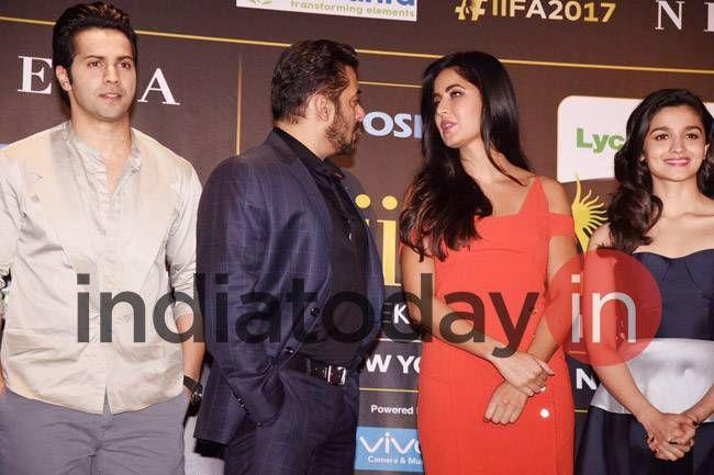 Varun Dhawan, Salman Khan, Katrina Kaif, Alia Bhatt