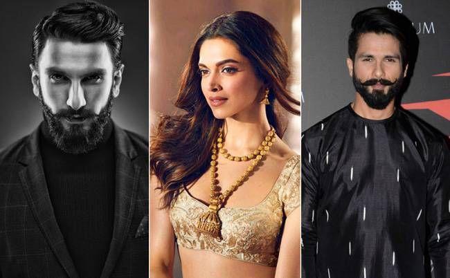 Ranveer Singh, Deepika Padukone, Shahid Kapoor
