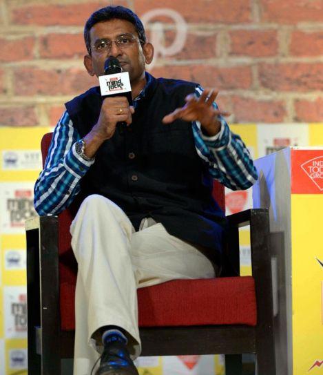 Jabong's COO Muralikrishnan B interacts with the audienceat at India Today Mind Rocks Bhopal 2017.