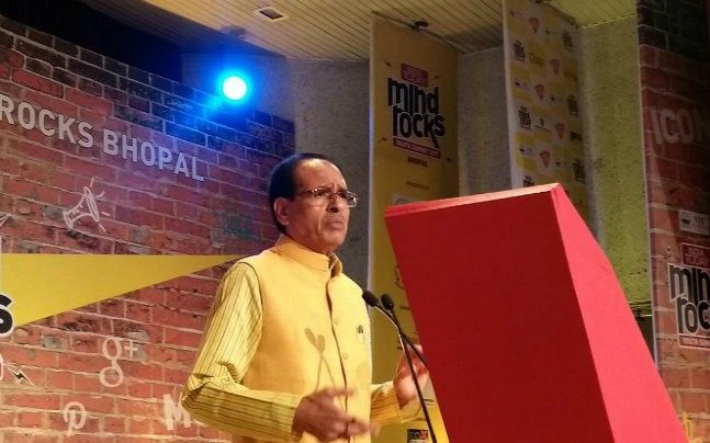 Madhya Pradesh Chief Minister Shivraj Chouhan speaking at India Today Mind Rocks Bhopal 2017