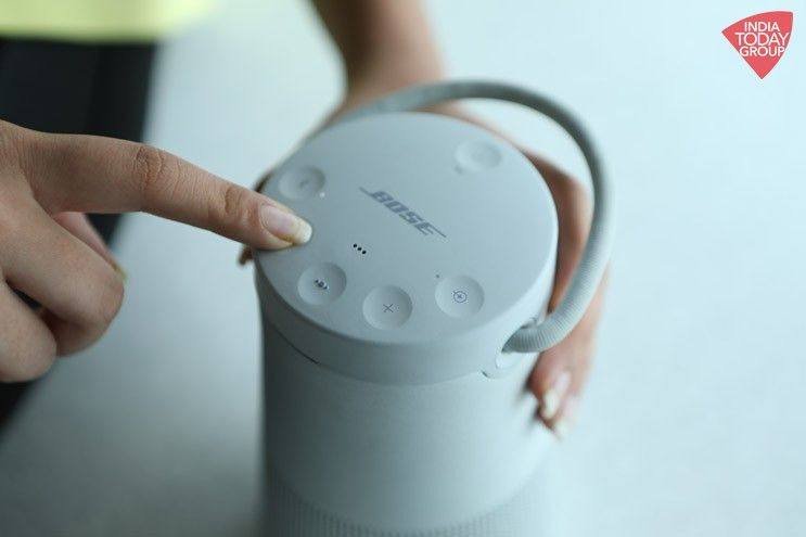 The Bose SoundLink Revolve + offers 360 degree sound in a chassis that is only sleek and svelte but also IPX4 water resistant.