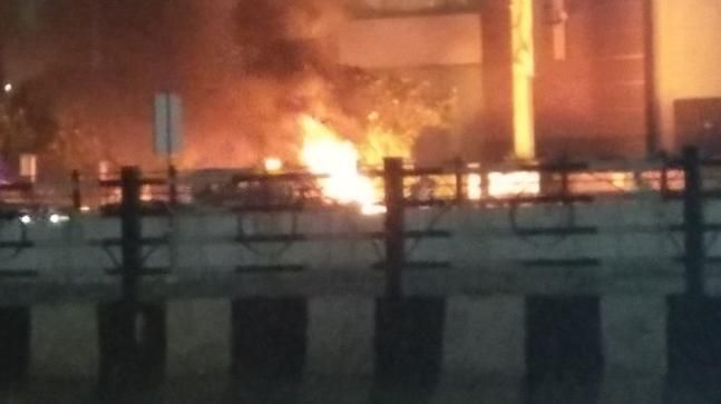 Protests in Ahmedabad over Padmaavat.
