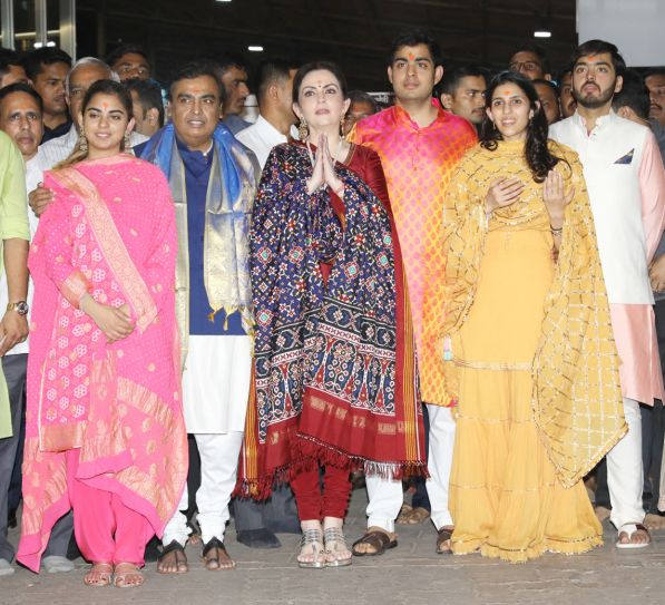 In pictures: Ambani family, Shloka Mehta visit ...