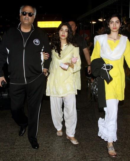 PHOTOS: Janhvi, Khushi and Boney return from Tirupati