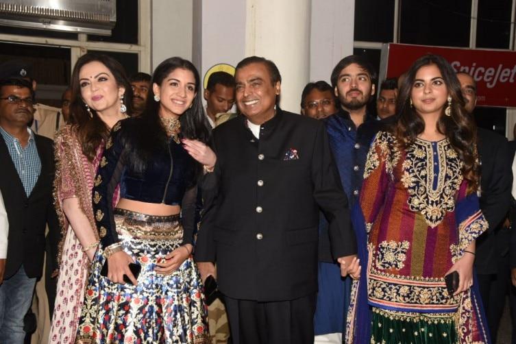 Image result for mukesh ambani at priyanka and nick wedding