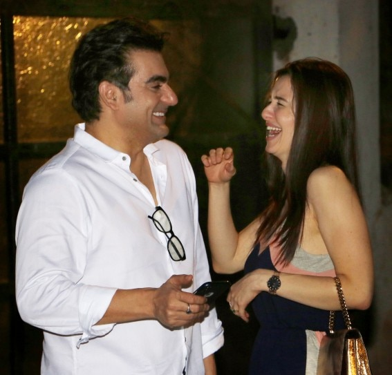 Arbaaz Khan and Giorgia Andriani cannot stop smiling on date night. See pics | IndiaToday
