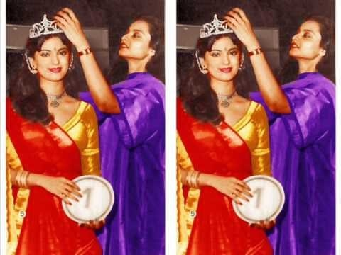 Juhi Chawla being crowned Miss India 1984 by Rekha  Unseen