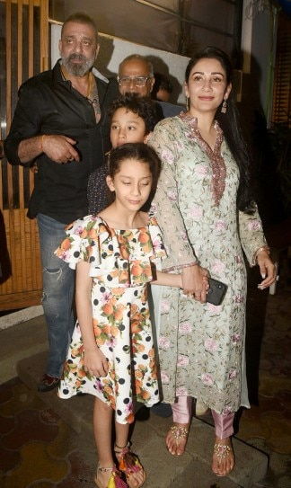 Sanjay Dutt steps out for dinner with wife Maanayata and